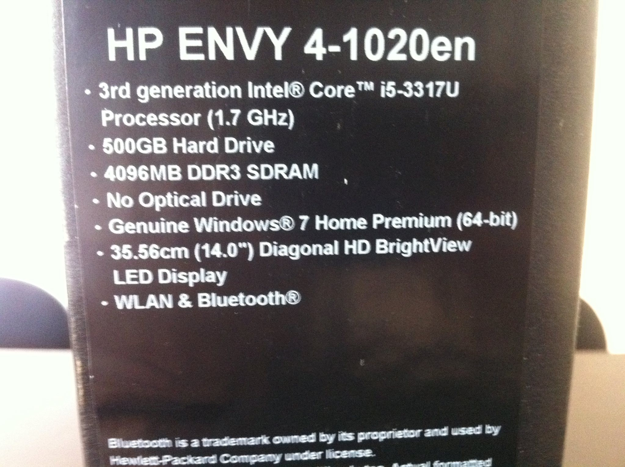 HP Envy Ultrabook
