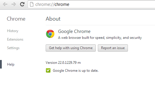Google Chrome 22