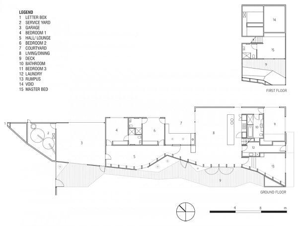 Planos, Casa Buzón - McBride Charles Ryan