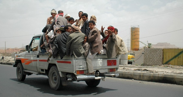 Houthi Fighters in Yemen mobilize for attacks against the Ali Abdullah Saleh led government in Yemen.
