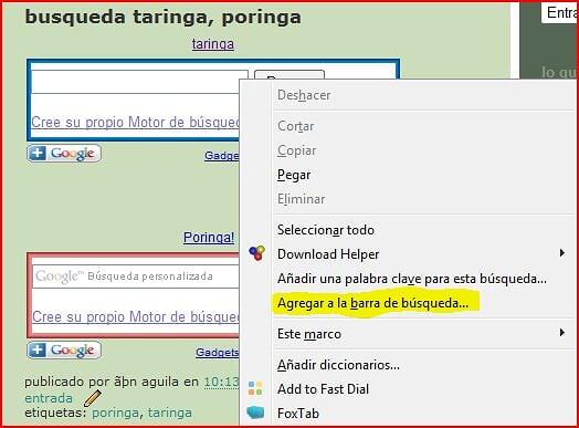 Busqueda en Taringa! desde google