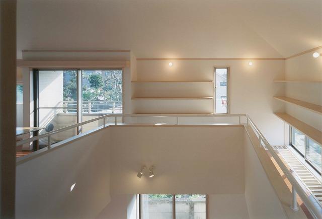 吹き抜け・オール電化床暖房・デザイン注文住宅の写真2ギャラリー回廊