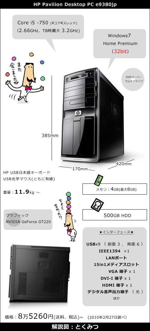 「HP e9380jp」画像 <表示されないときはブラウザで更新または再読み込みしてください