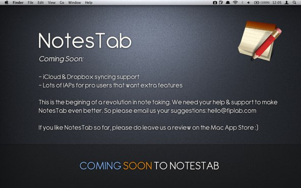 NotesTab-方便小巧免费的笔记工具