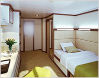 Outside Single Stateroom, PO Cruises