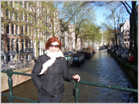 Glynis in Amsterdam