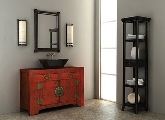 Mueble Baño Oriental:Asian Bathroom Decor
