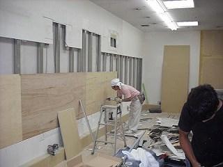 店舗内装 美容院 (有)アールエス 沼津市 美容院 内装工事 内装 ローコスト 壁下地補強