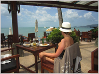 Lunch at beachside restaurant Ko Samui