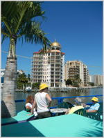TROPICAL . . . on LeBarge heading out of Sarasota