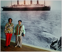 the Grannies at Titanic Experience museum