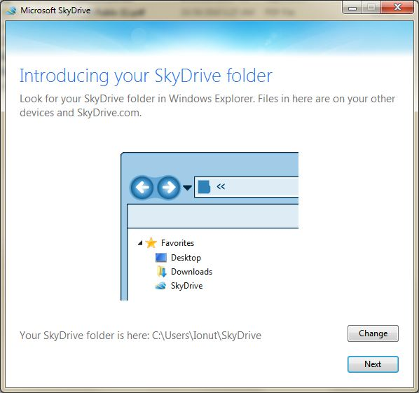 SkyDrive Install