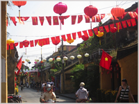 New Year decorations in AnHoi, Vietnam
