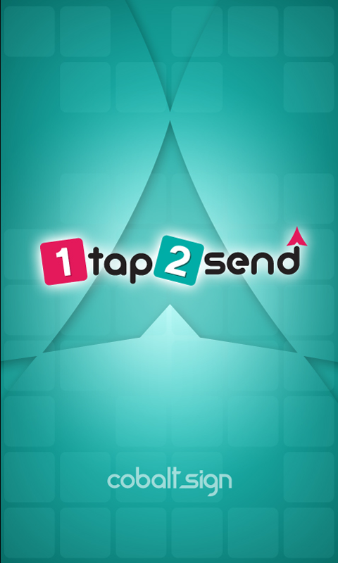 1tap2send splashscreen