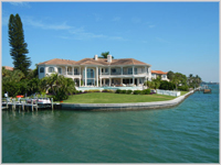 SWISH . . . one of the many luxury waterside homes