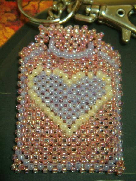用日本珠做时把它改成了双面有爱心的图案, 本来是 ...