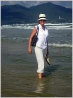 Paddling at China Beach, Denang