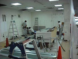 施工例 施工写真 施工事例 店舗内装 美容院 内装工事 (有)アールエス ローコスト 軽量 LGS