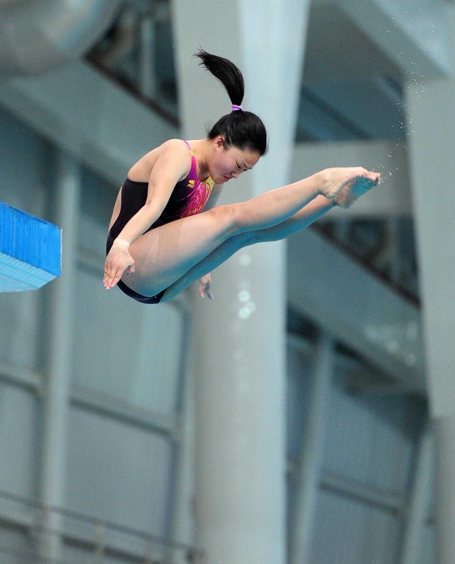 北京潘媛媛於女子公開組跳台