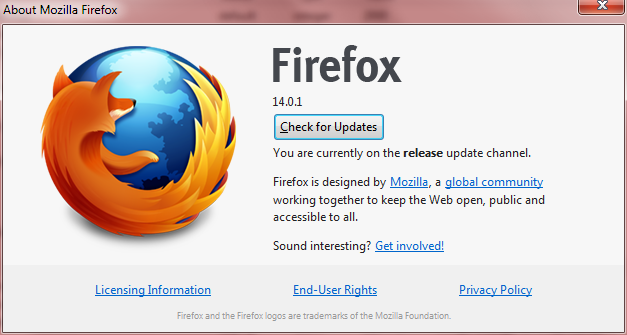 Firefox 14 About