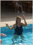 Water aerobic belly dancing by Mamma