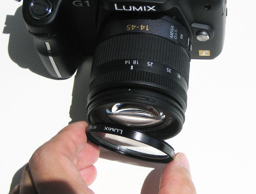 「LUMIX DMC-G1」へ装着