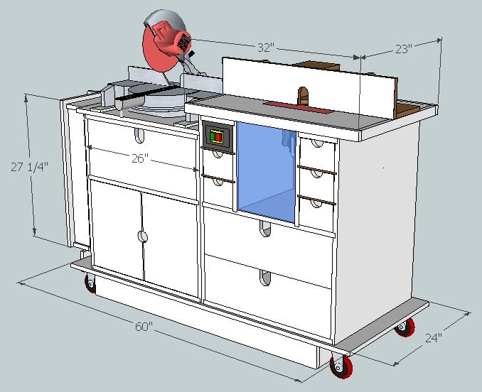 Router Table Plans Sketchup