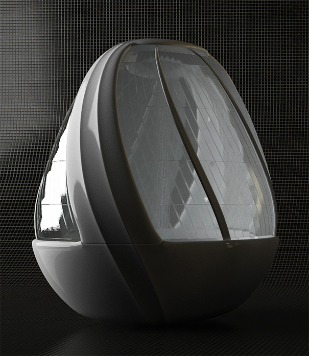 Cocoon Egg Shower, Arina Komarova, decoracion, baños, interiores