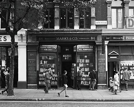 the Marks & Co shop at 84, Charing Cross Road-- sadly, they have long been out of business.