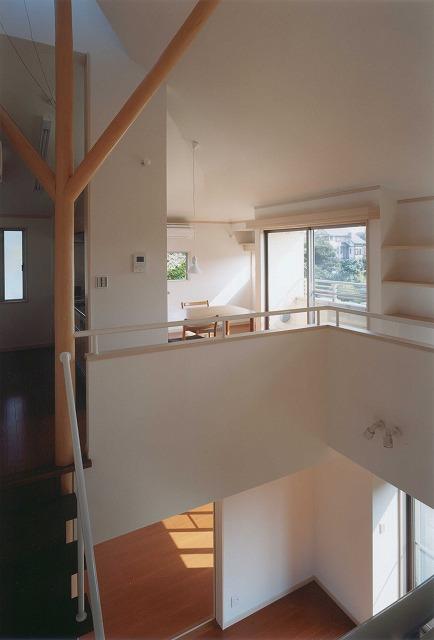 吹き抜け・オール電化床暖房・デザイン注文住宅の写真1大黒柱
