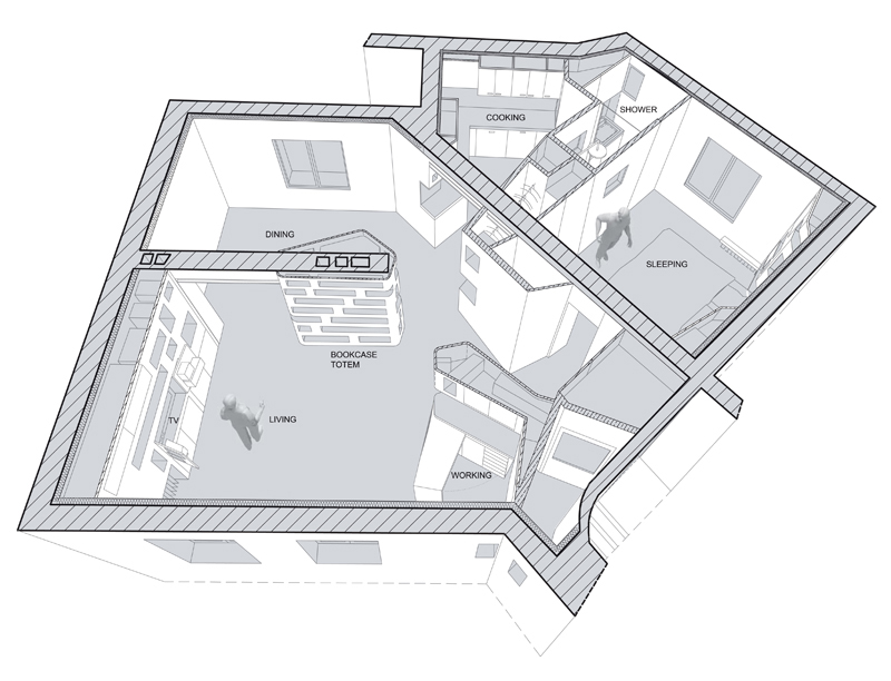 """Departamento """"delante y reverso"""" - h20 architects"""