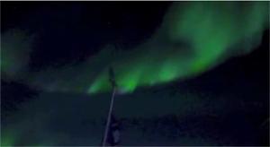 南極点オーロラ