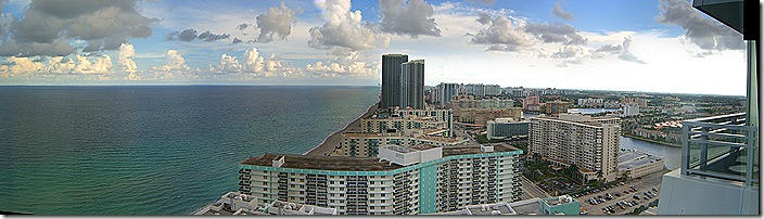 Hollywood Florida beach view 2007