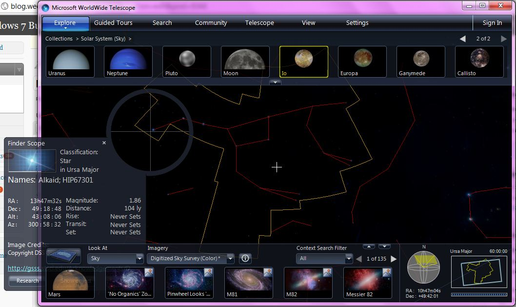 Microsoft World Wide Telescope Constellations