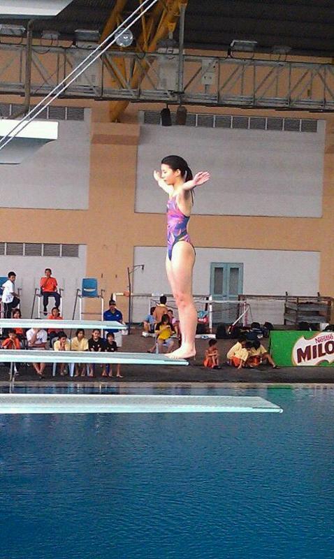 陳佩汶於女子B組3米板比賽中