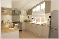 White Cross Bay sample lodge kitchen, Lake Windermere, The Lake District