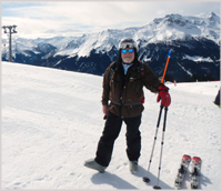 David Powell on the slopes in Klosters