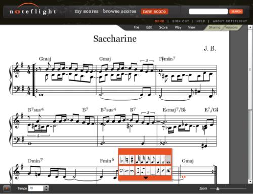 partituras de trompeta. web para crear partituras