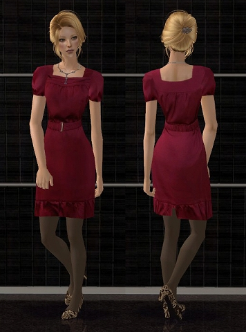 Satin dresses for AF Satindress_2