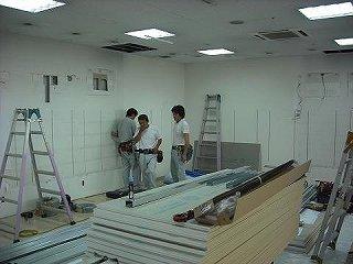 電気工事 美容室 ローコスト 店舗内装 (有)アールエス 内装工事 プラスターボード