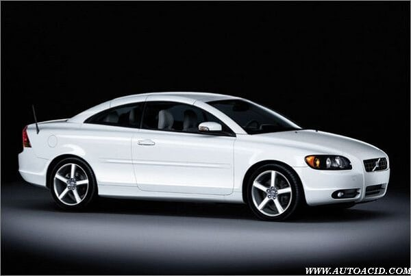 Vehicle parts, new Volvo C70 Sports snow white version of the appearance of