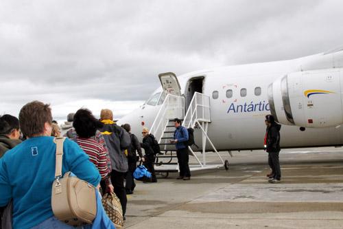 南極フライ&クルーズのフライト機<BAE146-200>