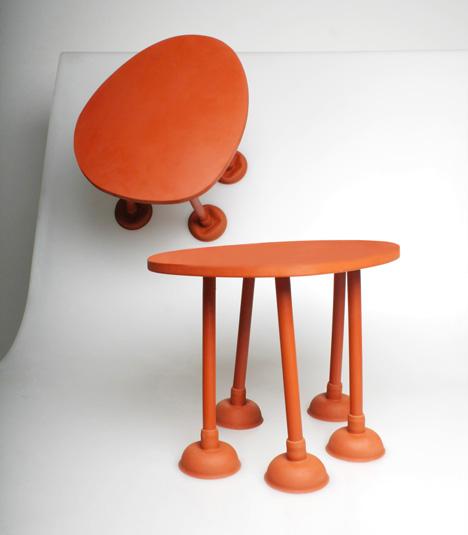 Rubber Table, Thomas Schnur, decoracion, diseño, interiores, muebles