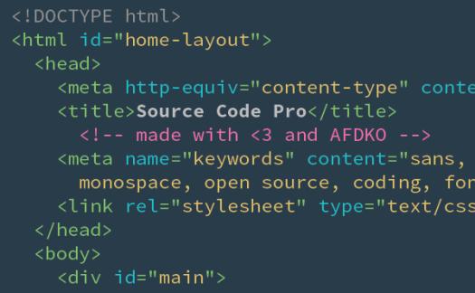 Adobe 发布开源字体 Source Code Pro