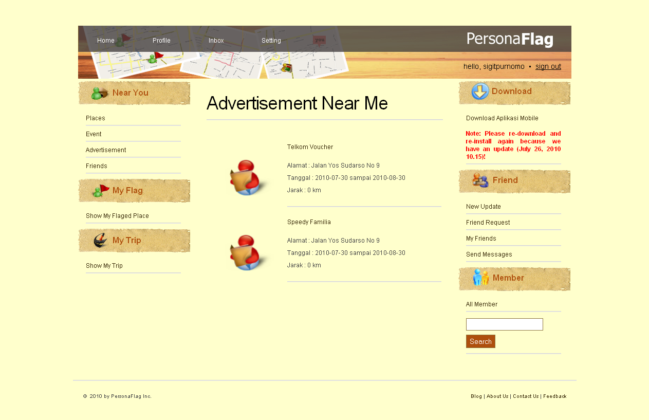 Web App - Near Me [Advertisement]