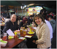 Eating with locals at Spicy Crabs restaurant at downtown Kowloon