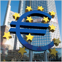 The Euro symbol and Eurotower