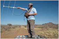 Tracking cheetahs in Namibia