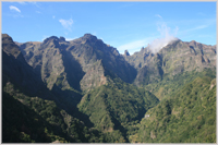 Spectacular mountain view in Madeira