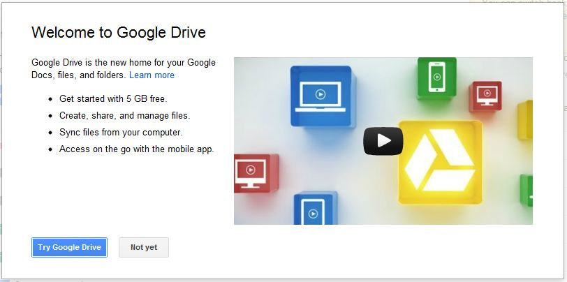 Welcome to Google Drive